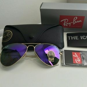 VIOLET RAY-BAN AVIATOR 100% AUTHENTIC